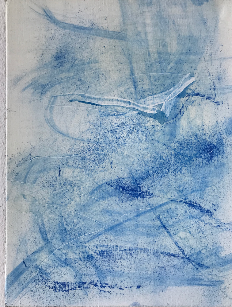 Harmony in Blue III , Mixed media on canvas / 40 x 30 cm / 2019 / 127
