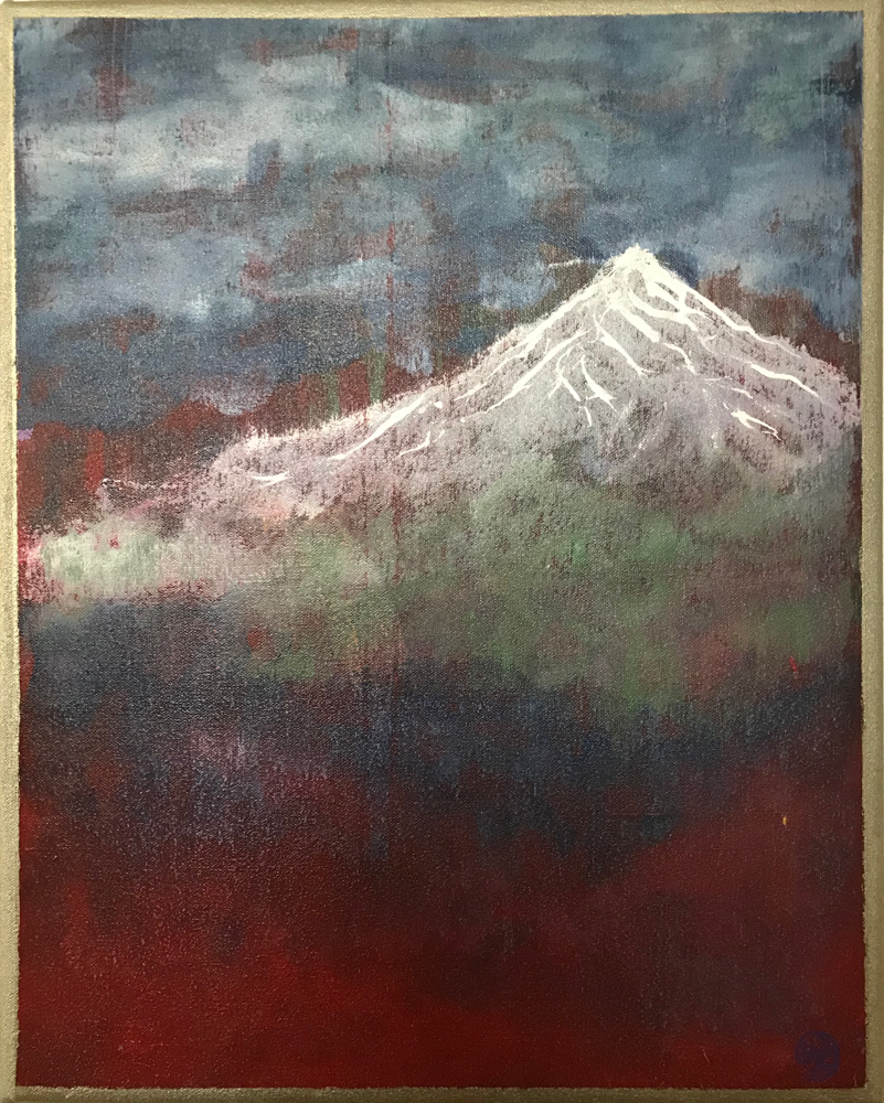 Red silence , Acryl on canvas / 50 x 40 cm / 2018/ 127