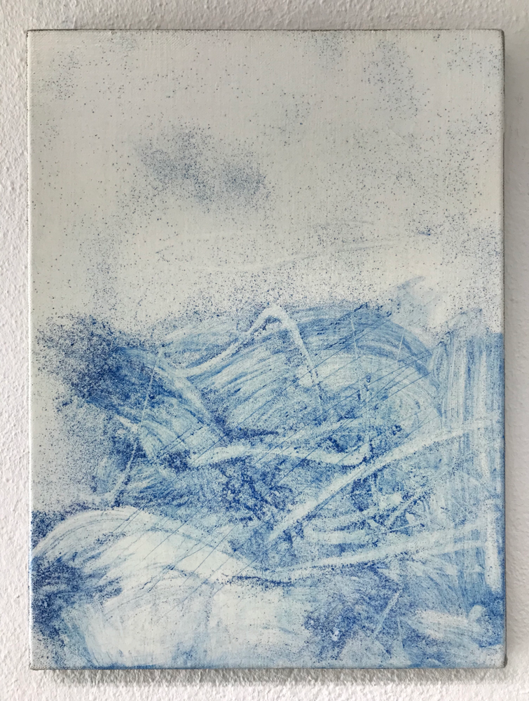 Harmony in Blue I , Mixed media on canvas / 40 x 30 cm / 2019 / 125