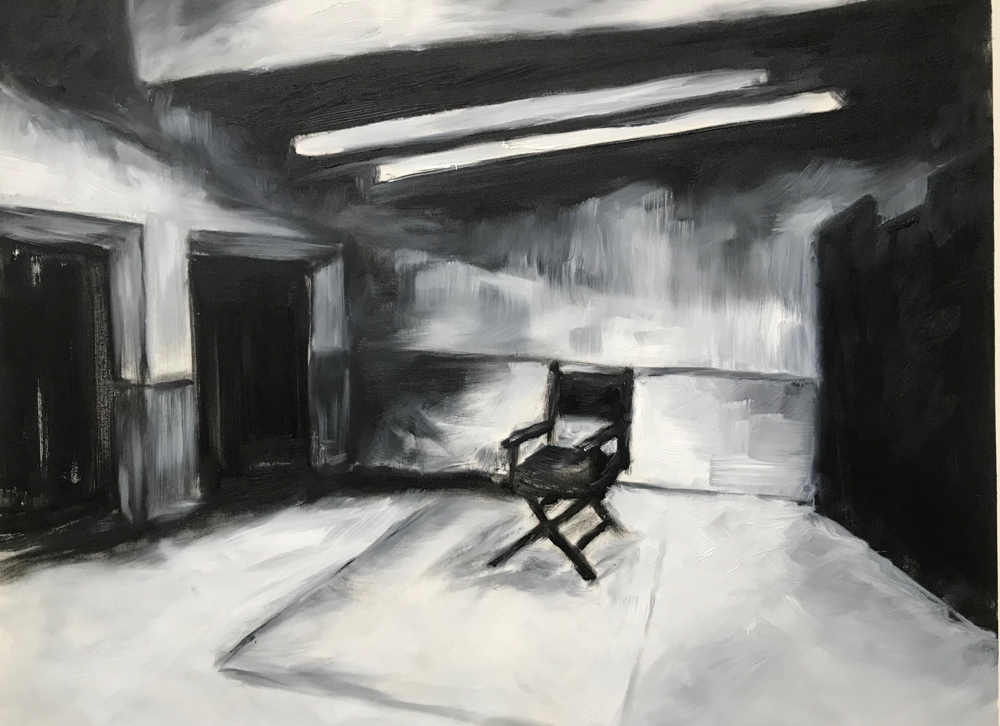 Something is coming up II , Oil on paper / 50 x 65 cm / 2019 / 43