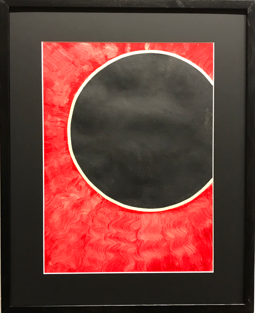 Black sun,  Acrylic on cardboard / 50 x 42 cm