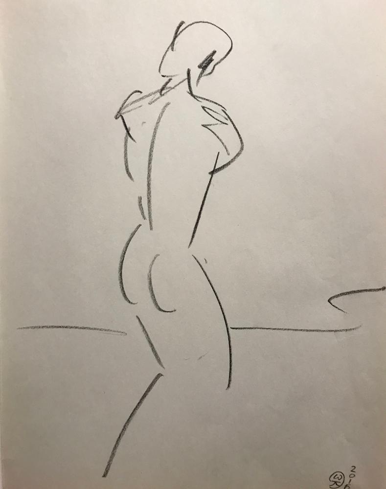 ........, Chalk lead on paper / 42 x 29,5 cm