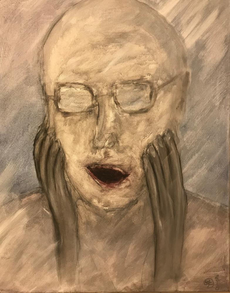 Oh, Acrylic on canvas / 80 x 60 cm