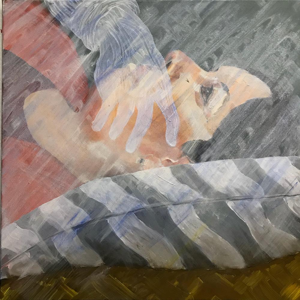 Night-mare longing, Oil / Acrylic on canvas, 60 x 60 cm