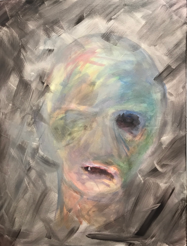Torment, Acrylic on canvas / 75 x 58 cm