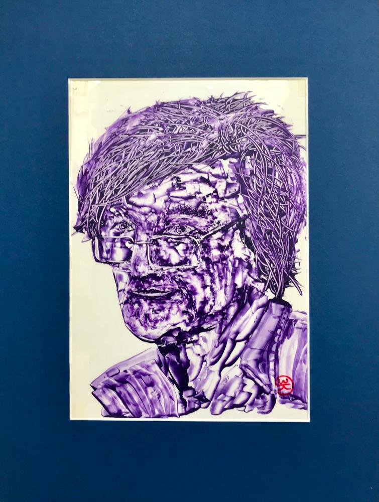 Ke , Acrylic on foil / 40 x 30cm