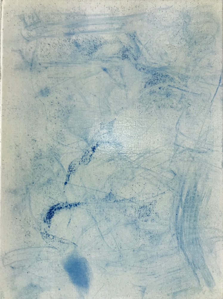 Harmony in Blue II , Mixed media on canvas / 40 x 30 cm / 2019 / 126