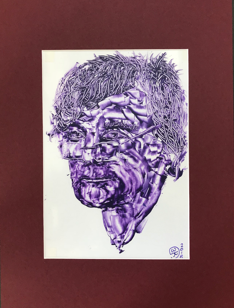 Dablju, Acrylic on foil /40 x 30cm