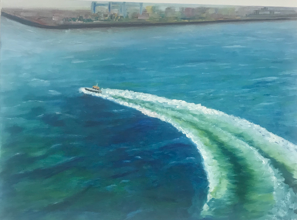 The pilot has disembarked , Oil on canvas / 50 x 70 cm / 2019 / 19