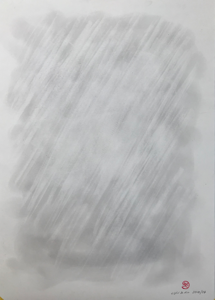 Light & Air,  Charcoal on paper / 59,7 x 42 cm