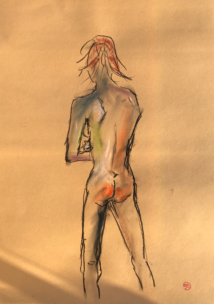 Sunburn, Charcoal on paper / 59,4 x 42 cm / 2019 / 131