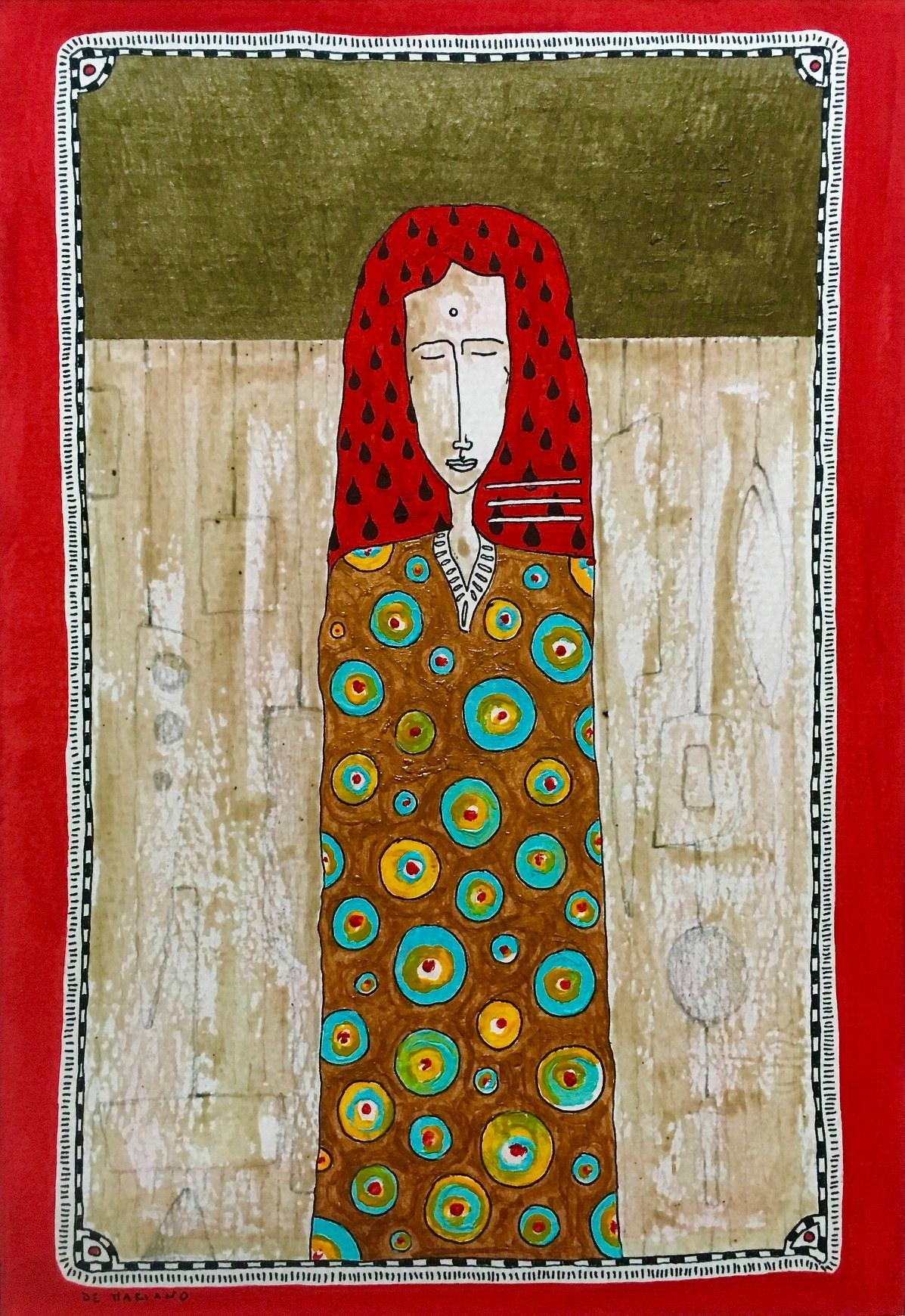 """17 / FILIPPO DE MARIANO, """"VESTITO PER QUADRO"""", 20 x 30 cm."""
