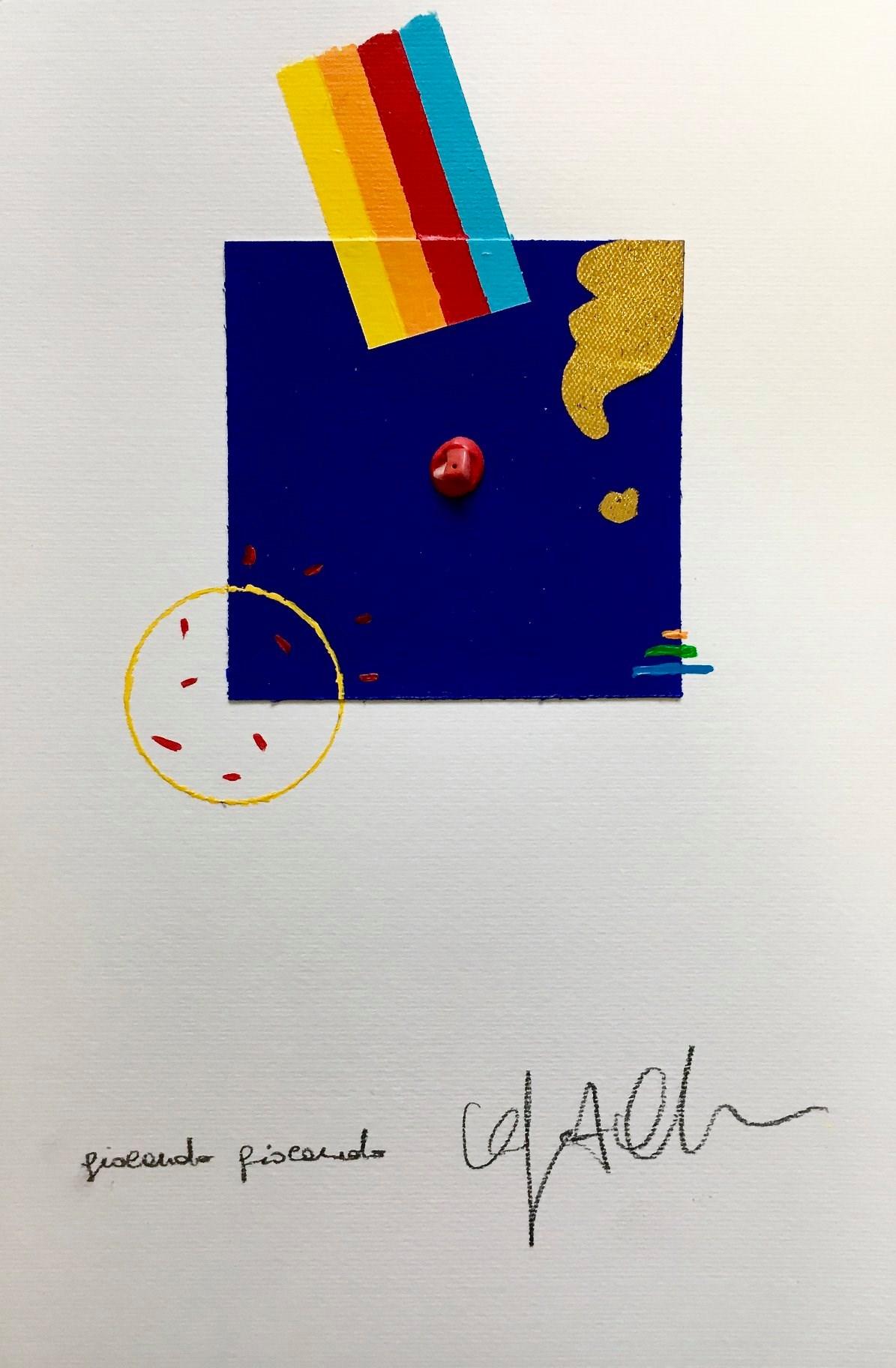 """39 / ORFEO OLIVATO, """"BLU/GIOCANDO GIOCANDO"""", 20 x 30 cm."""