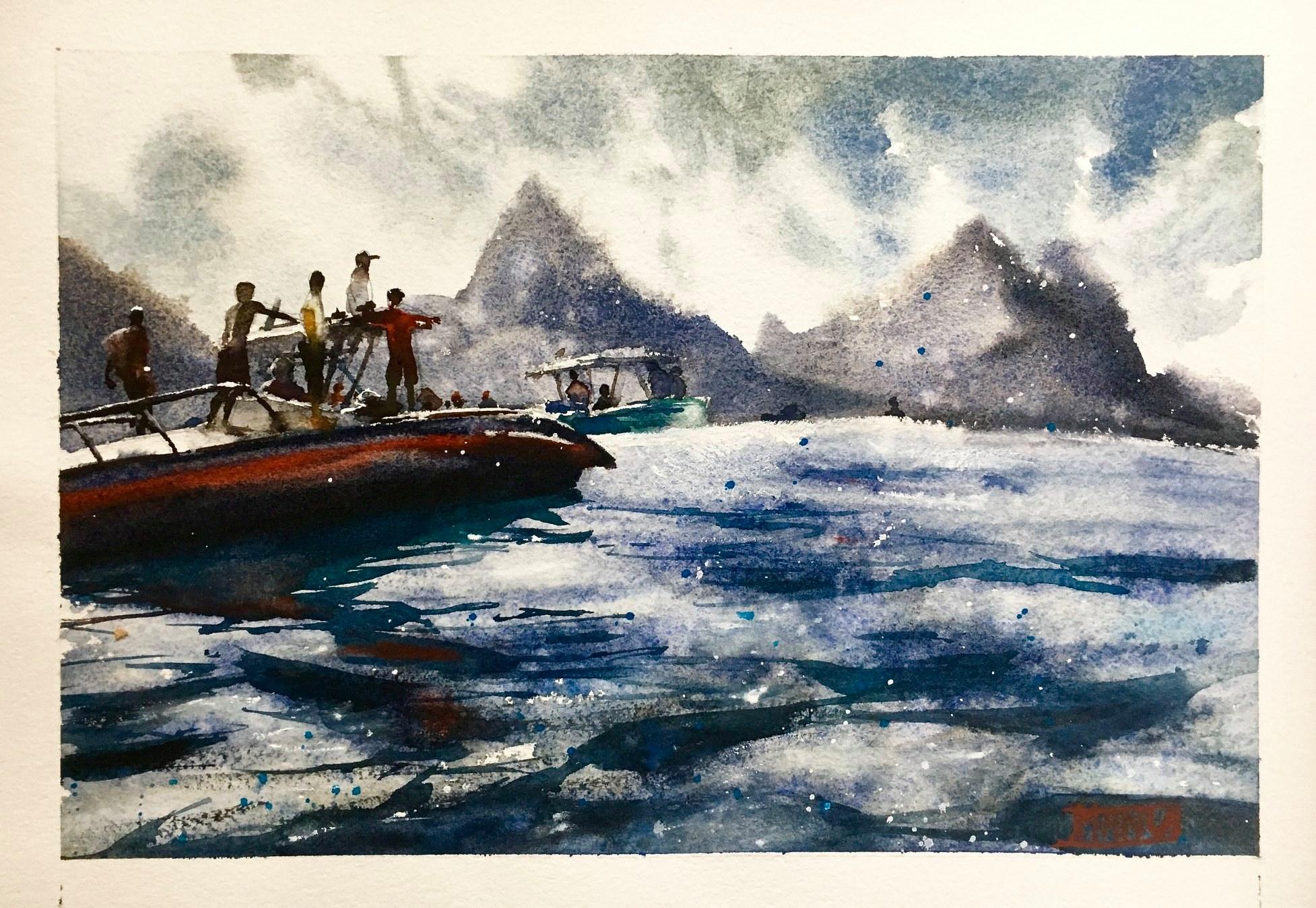 """8 / EMMANUELE CAMMARANO, """"IL MARE DENTRO"""", 30 x 20 cm."""