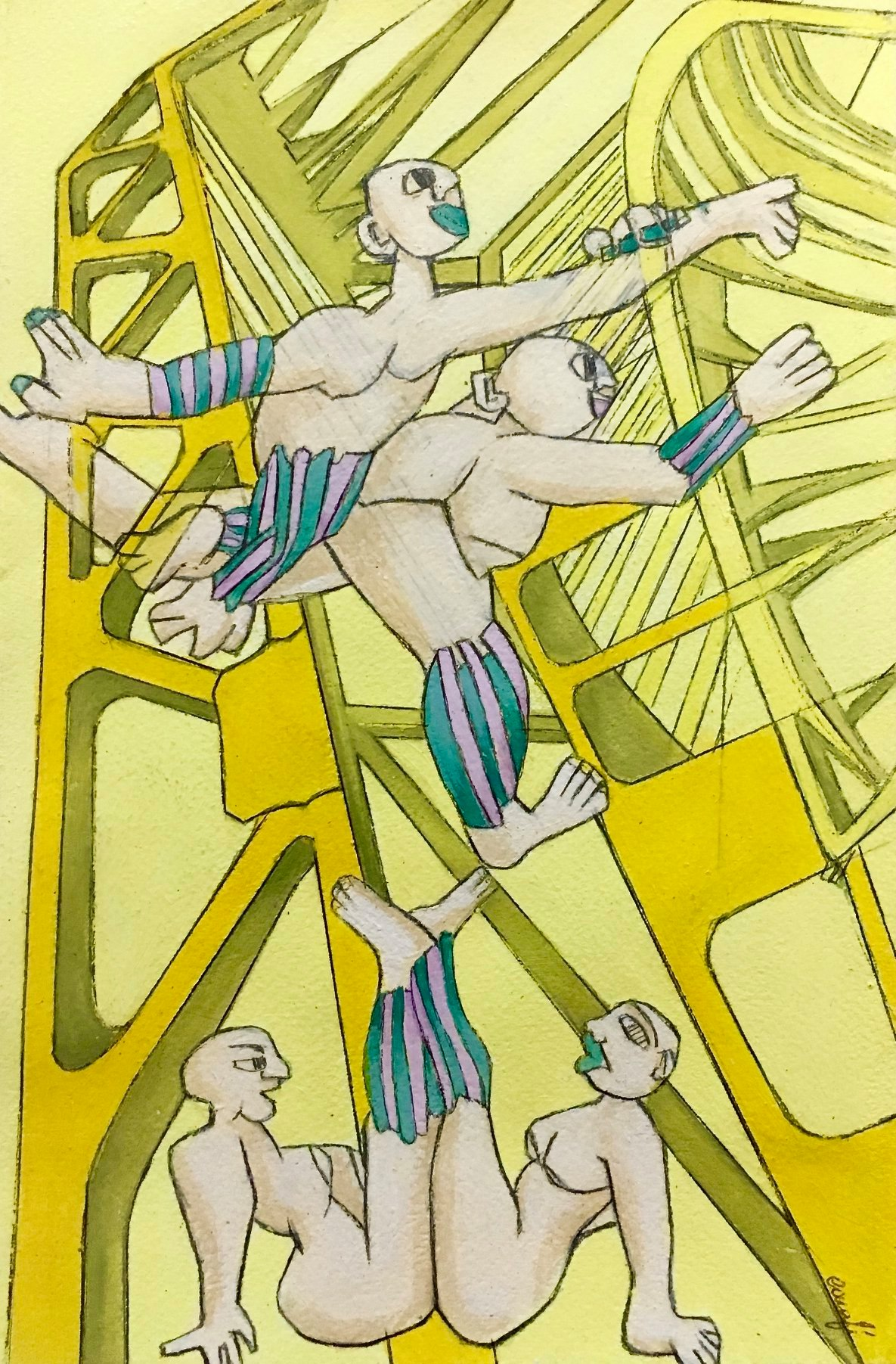 "10 / ISABEL CARAFÌ, ""STRUTTURE INTERATTIVE"", 20 x 30 cm."