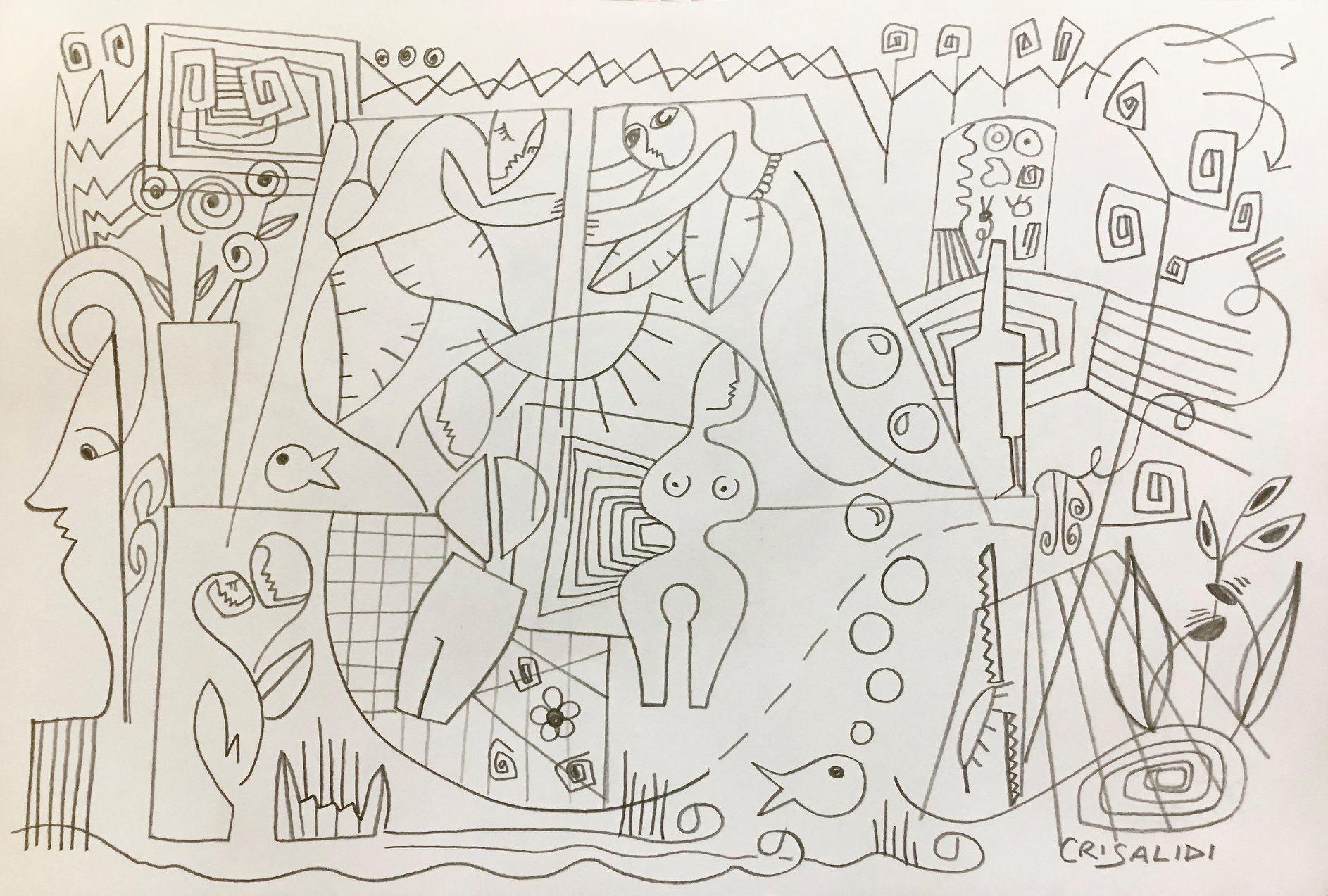 """13 / CRISALIDI, """"STORIA DI UN AMORE CLANDESTINO"""", 30 x 20 cm."""