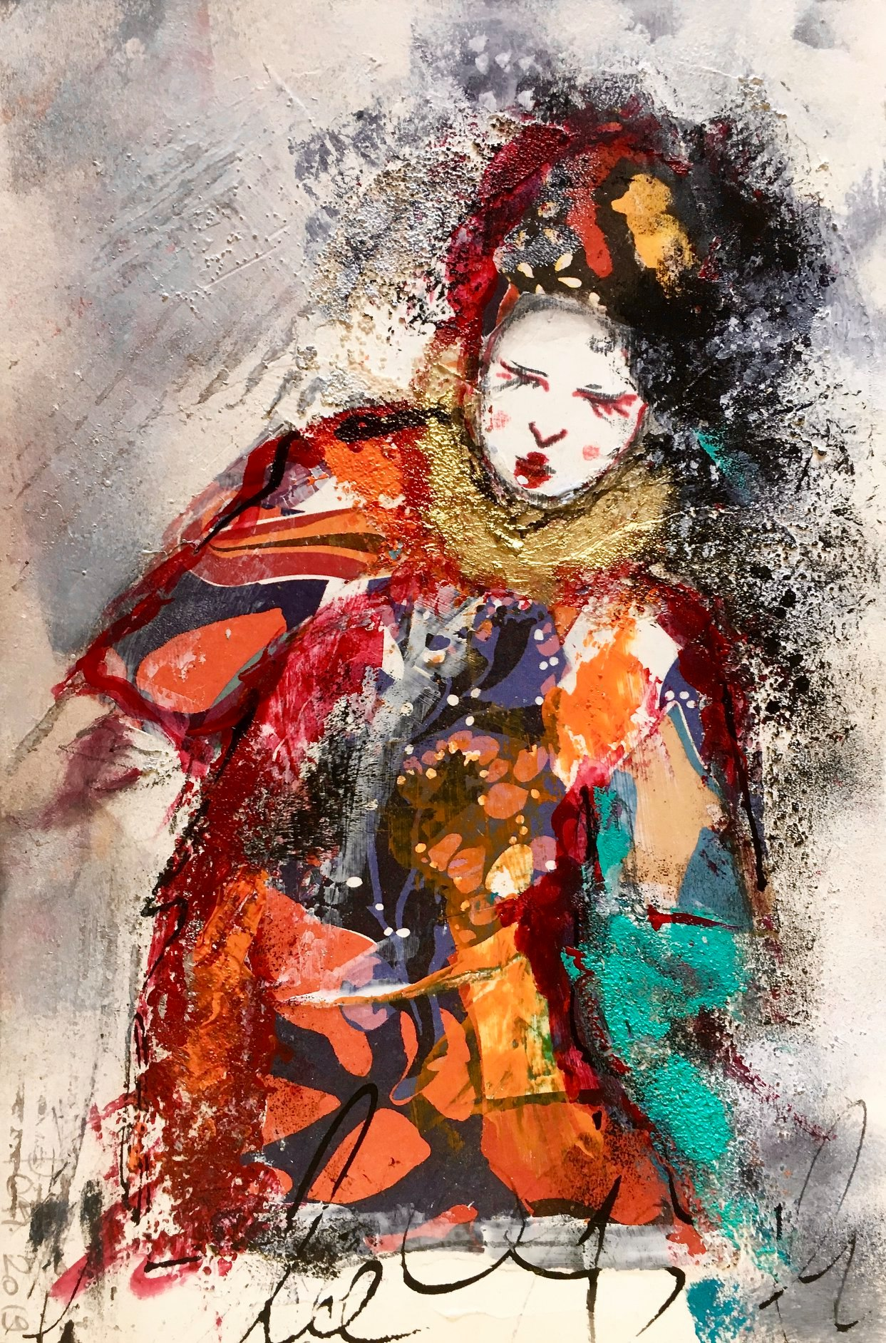 """34/ PATRIZIA MARTIN ROSSI, """"LA GEISHA DANZANTE"""", 20x30 cm"""