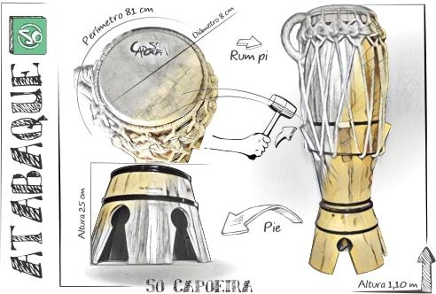 Instrumento Atabaque So Capoeira