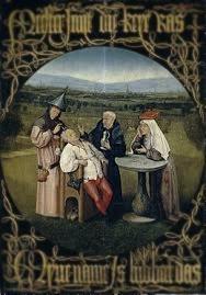 """H. Bocsh """"El Bosco"""" (1475-1480) La Extracción de la Piedra      de la Locura"""