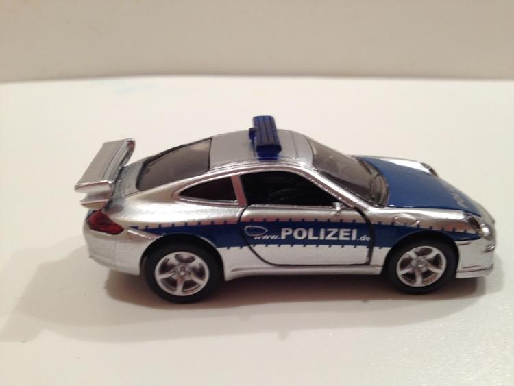 Porsche 911 Carrera S Nr.1006 Polizei/silber/blau