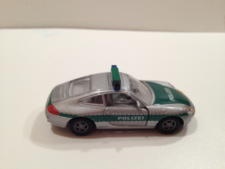 Porsche 911 Carrera Nr.1093 Polizei/silbermetallic/grün
