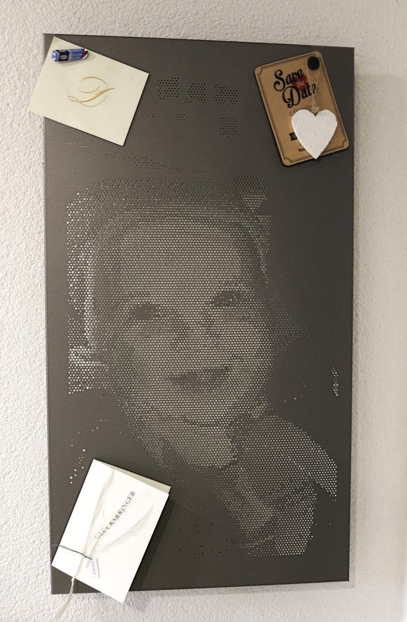 Lochblechdesign Pinnwand Motivlochblech Fotoblech
