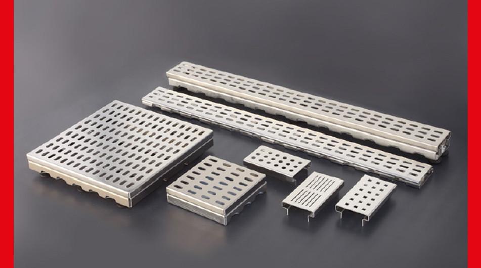 Terrassenrinnen und Kiesfangleisten aus Aluminium und Edelstahl