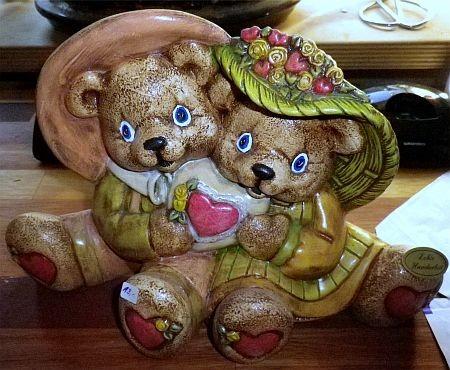 Teddypaar mit Herz