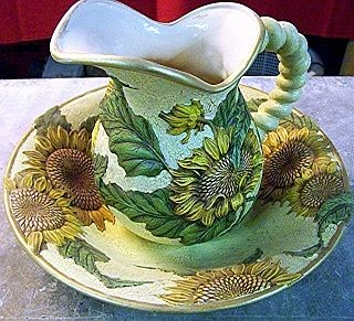 Sonnenblumen Krug mit Schale