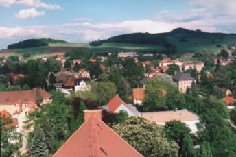 Blick auf den Stolleberg, Richterberg und Varnsdorfer Spitzberg