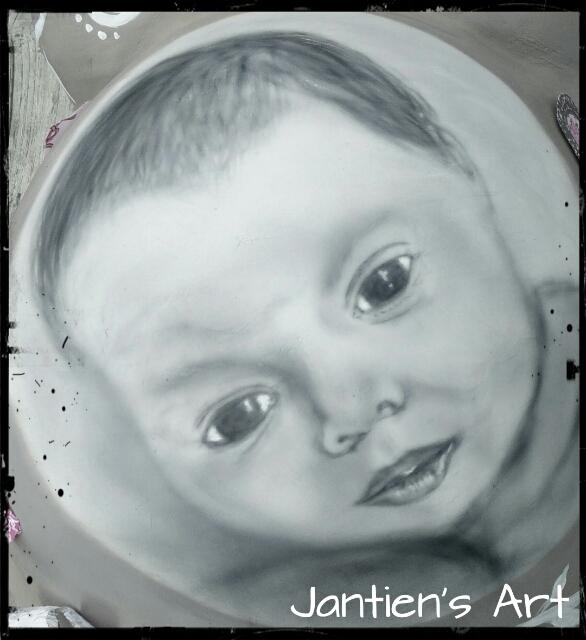 portret op gipsafdruk