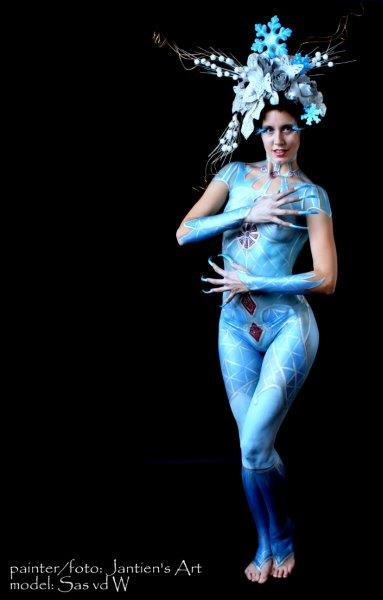 Snow Princess Bodypaint