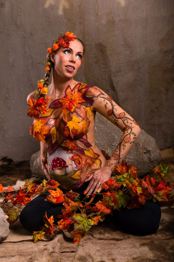 Fall Bodypaint