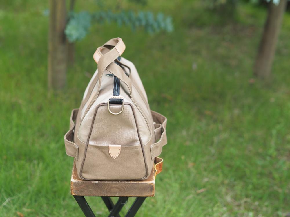 汗やシミに強い旅行バッグ