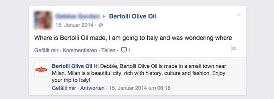 Klage gegen Bertolli