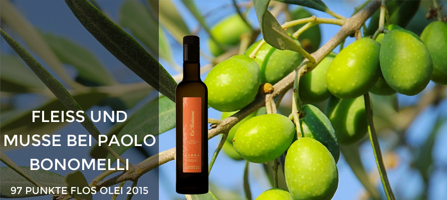 Paolo Bonomelli Ca'Rainene Olivenöl - 97 Punkte FLOS OLEI 2015 - weltbestes Olivenöl