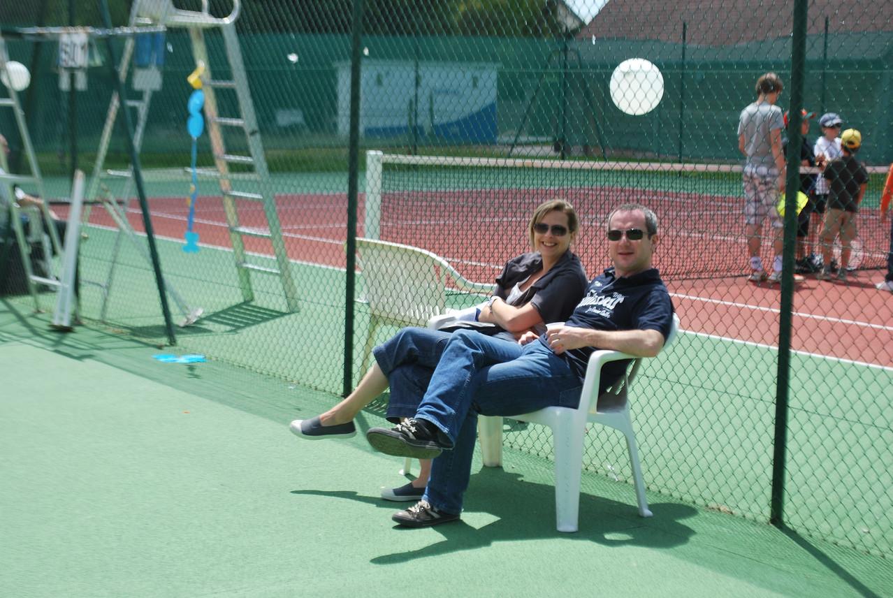 Isabelle et Fabrice : 2 coaches pour un joueur : Titouan...