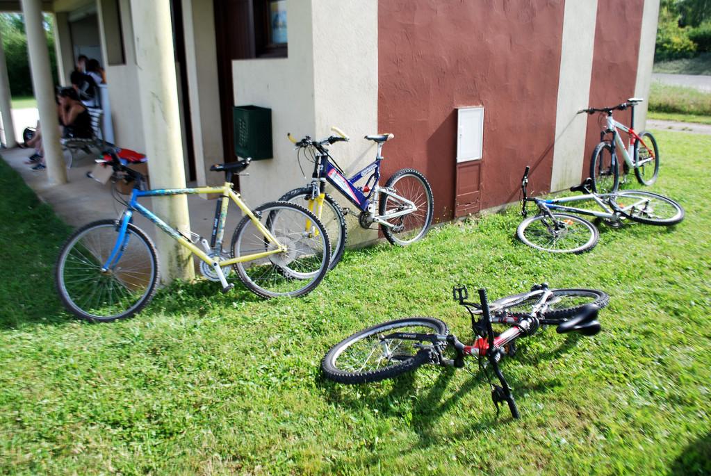 """Des """"roues de vélo"""" (6/0 6/0), il y en a eu quelques-unes pendant le tournoi! Mais les joueurs avaient pris leurs précautions pour le retour..."""