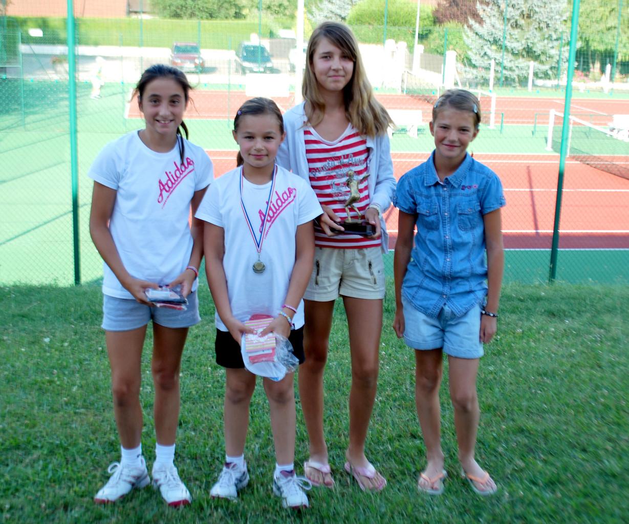 De g. à d. Lily Jacob, Atalia Gaudichon, Alice Pointu (gagnante), Elodie Lafond (manque Elsa Blanc)