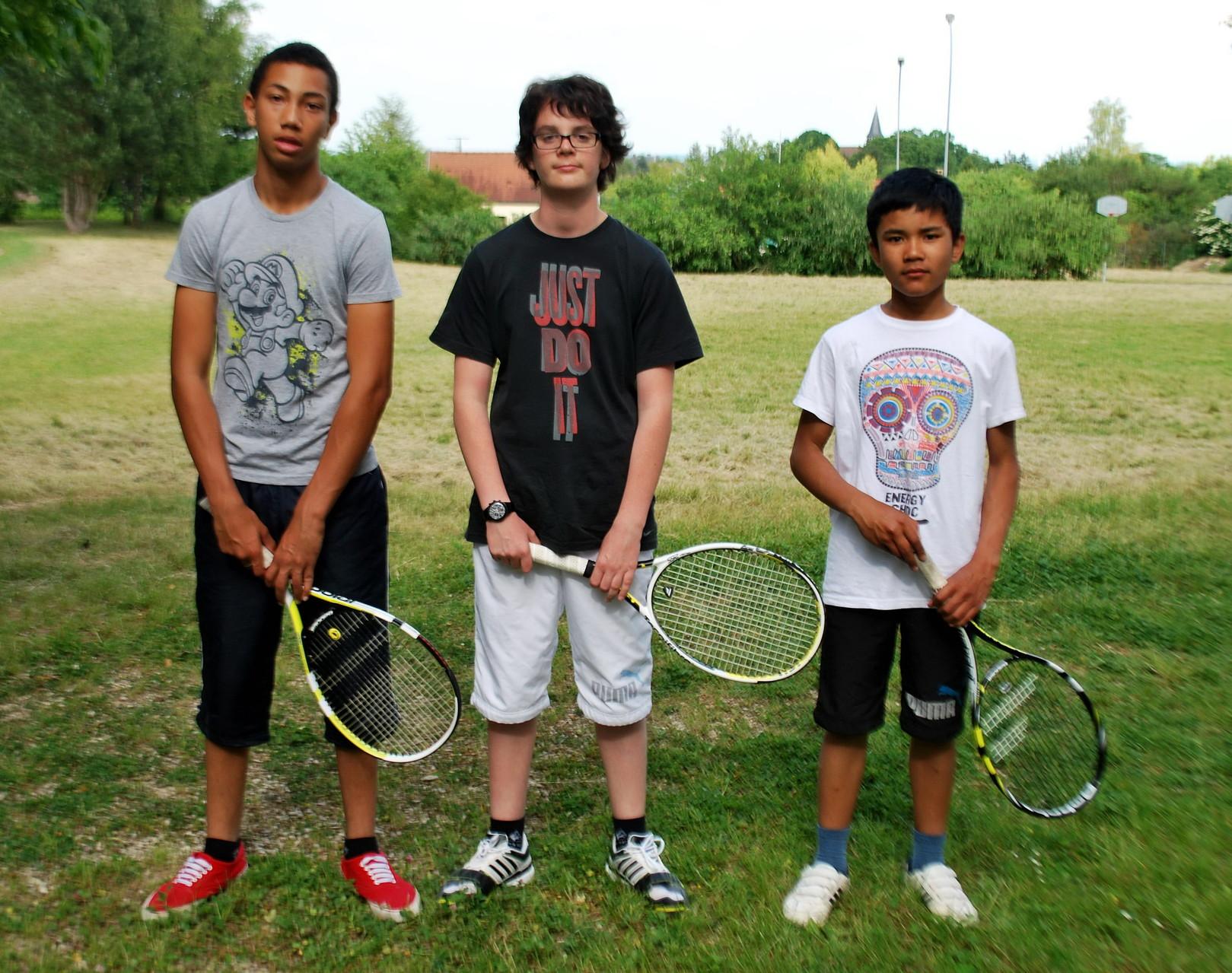 La fine équipe... De g. à droite: William, Nico, Victor