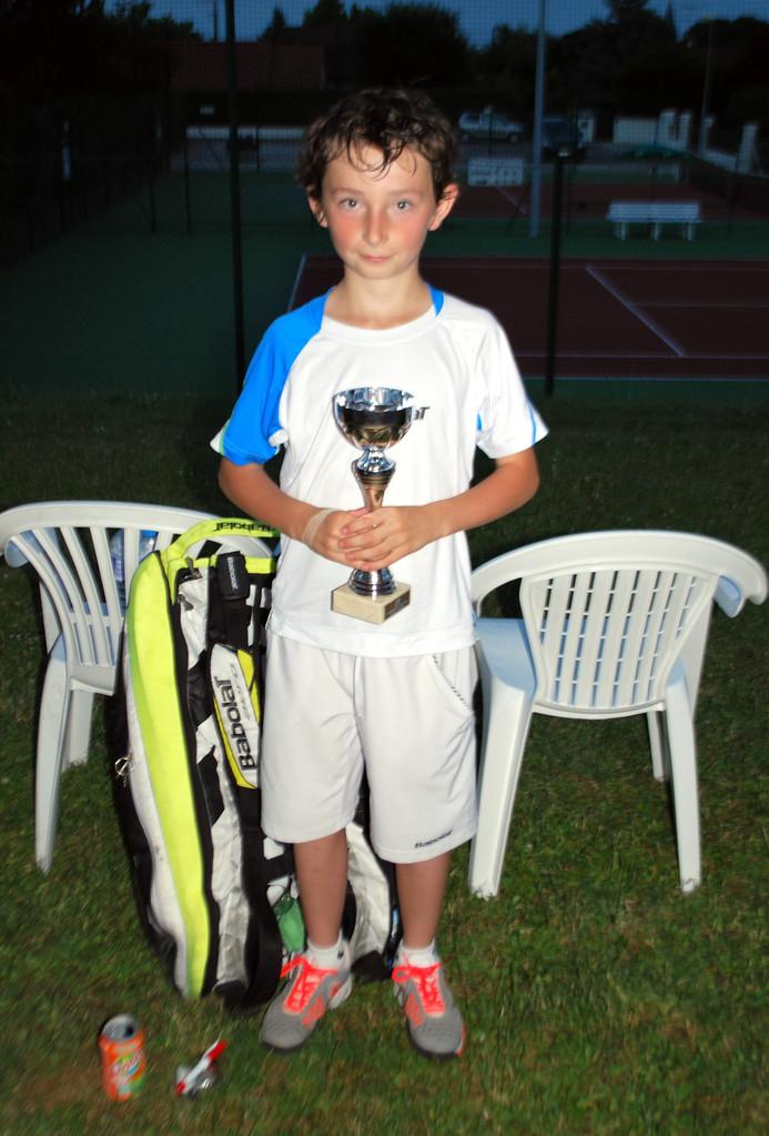 Mathis LOGEROT (30/1, TC Langres) vainqueur 2013 en 11/12 ans