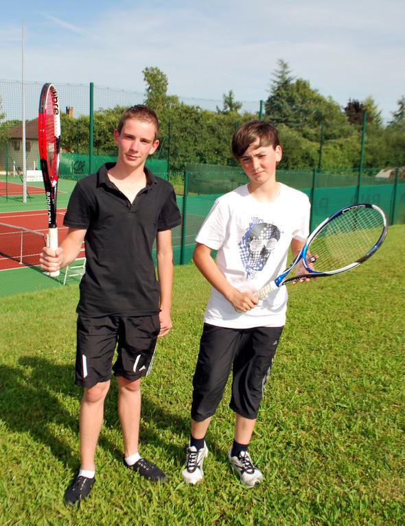 Valentin Noiret (TC Germinois) et Hugo Schultess (TC Bouilly)
