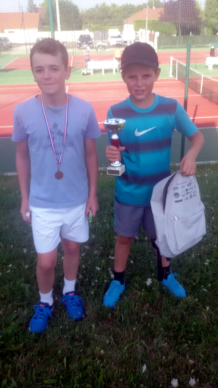 Alexis PAULIN (finaliste) et Milo PACI (vainqueur en 13/14 ans garçons)