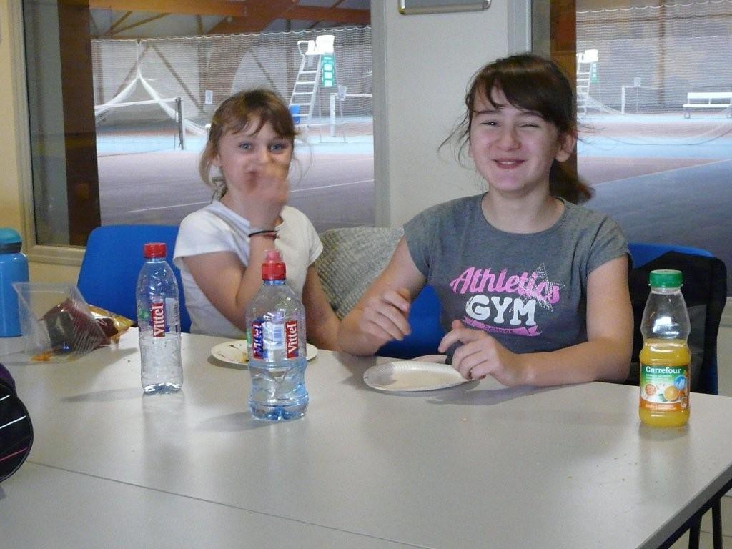 Julie (à gauche) et Mathilde (panthères)