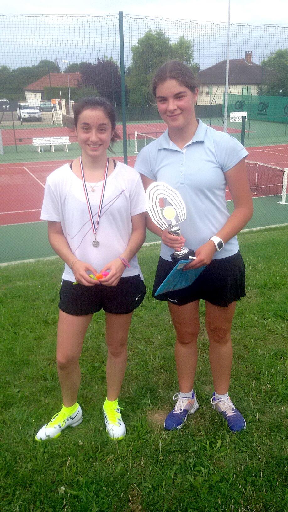 Lily JACOB (finaliste) et Emeline ROCQUET (vainqueur en 15/16 ans filles)