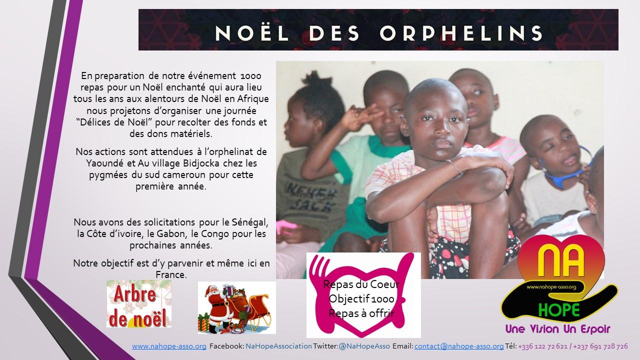Réaliser notre premier noël des orphelins