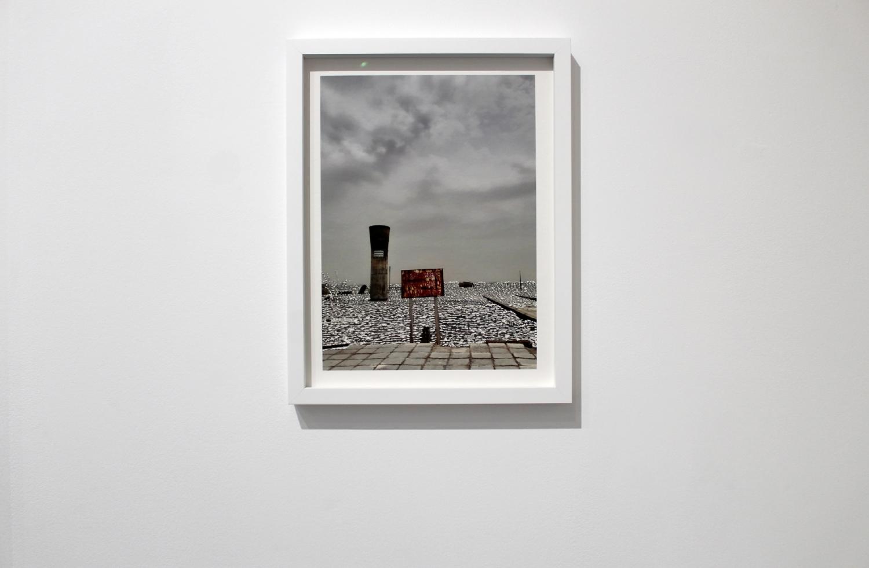 Raphaëlle Peria, Le grand plongeon, grattage sur photographie, 40 x 30 cm, 2021