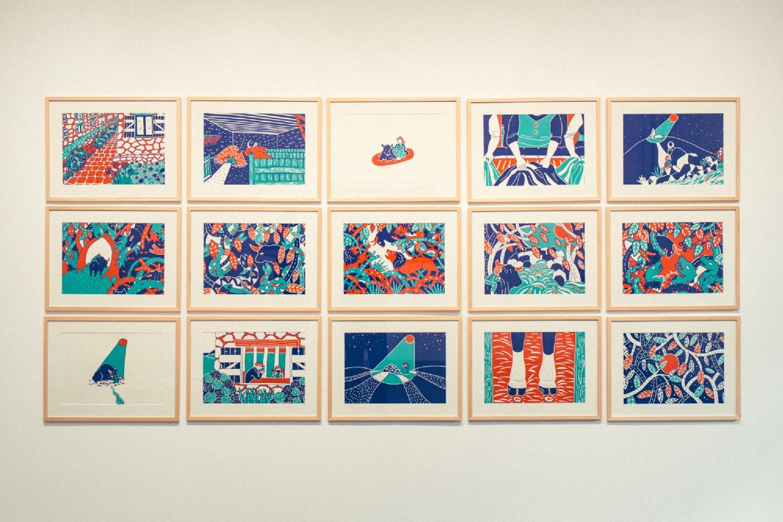Le Taureau Bleu, série de 16 dessins, impression numérique, 29,7 x 42 cm. Photo : Simon Détraz