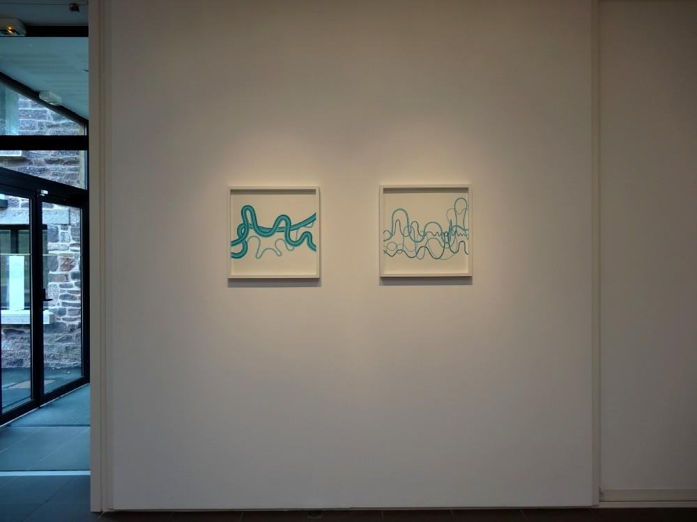 Vue de l'exposition Marine Bouilloud, Fragments d'aura.