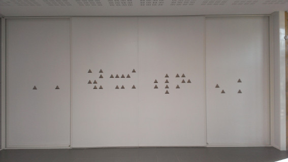 Vue de l'exposition Jean-Benoit Lallemant, Data Mining.